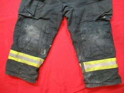 Morning Pride Fire Fighter Turnout Pants 44 X 28 Black Bunker Gear Rescue