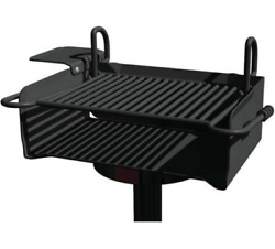 Park Grill Commercial - 360º Rotation - 384 Sq In Area - Perm Or Portable Mount