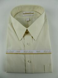 Roundtree And Yorke Gold Label Non Iron Ez Wash Pinpoint Dress Shirt Nwt Ivory