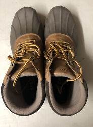 Sperry Mens Avenue Duck Boots Tan Brown 10.5 New