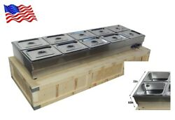 Update 10-well Commercial Bain-marie Buffet Food Warmer 110v 2.2kw 122℉175℉