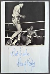 Cooper Henry Heavyweight Boxing Champion 1950andrsquos And 1960andrsquos Original Autograph