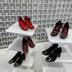 Runway Fashion Glossy High Heel Leather Shoes Real Leather Non-slip Beautiful