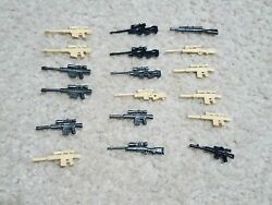 Sniper Rifle Lot For Lego Minifigures - Guns Weapons Accessories Building Toy