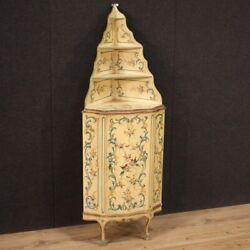 Small Corner Cupboard Antique Style Venetian Sideboard Double Body Lacquered