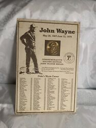 1979 American Treasury Mint John Wayne Commemorative Golden Edition Medal
