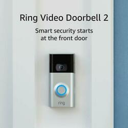 Ring Video Doorbell 2 - Battery Or Hardwired - Motion Alerts - Easy Install
