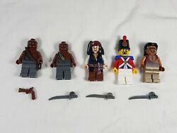 5 Lego Pirates Of The Caribbean Minifigures - Jack Sparrow Zombie Soldier