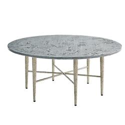 Spectacular Large Pebbled Silver Coffee Table Gray Marble Top Star Shape Base