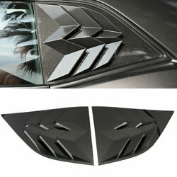 Accessories Rear Window Louvers Shutters Trim For Dodge Challenger 2010-2019