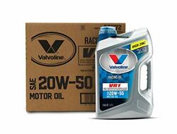 Valvoline Vr1 Racing Sae 20w-50 Motor Oil 5 Qt Case Of 3 Conventional