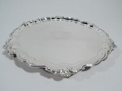George Ii Salver - Antique Georgian Tray - English Sterling Silver - Wickes 1747