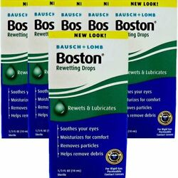 Boston Rewetting Drops For Rigid Gas Permeable Contact Lenses - 0.33 Ounce 6...