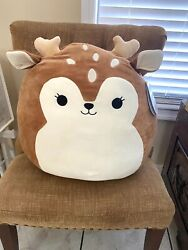 """Squishmallow Dawn The Fawn Sz 18""""-20 Pillow Kelly Toy"""
