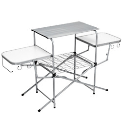 Foldable Camping Table Outdoor Kitchen Portable Grilling Stand Durable Bbq Table