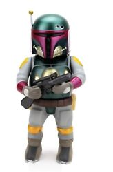 Signed Ron English X Made By Monsters Ironskin Gold Grin Boba Fett Star Wars New