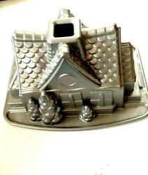 Nordic Ware Fairytale House Cake Pan 3d Baking Mold Christmas Fairy Cottage Tree