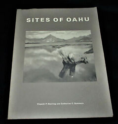 Hawaii Sites Of Oahu Sterling-summers History Maps Archaeology 2001 Scarce