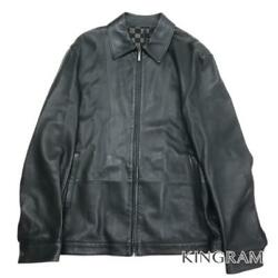 Louis Vuitton Swing Top Drizzler Black Leather Menand039s Outerwear From Japan