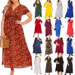 Plus Size Womens Casual Summer Cocktail Party Dress Gown Holiday Maxi Dresses Us