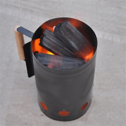 1pc Chorcoall Grills Ignition Barrel Barbecue Fire Starter Bucket Stove Rack