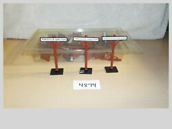Life Like O Scale Pikesville Junction Signs Lot 23pcs Model Train Layout 4874