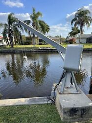 Ace Boat Davit Crane 2800 Lbs Capacity Electric Great Working Condition