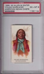 1888 N2 Allen And Ginter American Indian Chiefs Young Whirlwind Psa 6++