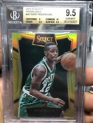 2015-16 Terry Rozier Panini Select Gold Refractor Rc Card 4/10 Bgs9.5 Rare