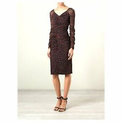 Dolce And Gabbana Andpound1500 Red And Black Polka Dot Silk Wiggle Dress Nwt It40/uk8