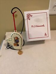 New In Box Mj Hummel Danbury Mint -2018 Christmas Mitten Ornament Andldquolet It Snowandrdquo