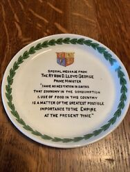 Grimwades Ww1 David Lloyd George Dish Made By Girls While The Boys In Trenches