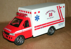 1/38 Scale Ambulance Diecast Model - Fire Dept Paramedic Rescue Van Friction Toy