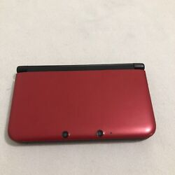 Nintendo New 3ds Xl Black Handheld Video Game System Red-001 W/ 3 Digital Games