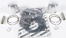Wiseco Top End Piston And Gasket Set 76mm +0.5mm Over Kawasaki 650 Sx 1987-1993