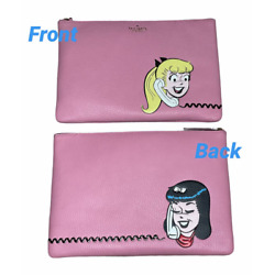 KATE SPADE ARCHIE COMICS BETTY AND VERONICA GIRLS TALK CLUTCH POUCH MAKEUP BAG $64.00