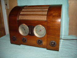 Antique 1947 Goblin Clock Radio Model Cr From England Unusual Set For U.s.a.