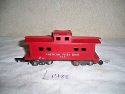 Vintage 1953 A.c. Gilbert Co. S Scale American Flyer Lines 638 Red Caboose Car