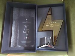 Authentic Tesla Tequila Empty Bottle + Stand + Box Very Limited Ready To Ship