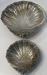 """Baroque By Wallace Silver-plated Shell Bowls 272 11 1/2"""" And 278 7 1/4"""
