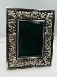 Buccellati Italy Vintage Sterling Silver Grapevine Leaf Picture Frame 6 1/2andrdquox8andrdquo