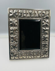 Buccellati Italy Vintage Sterling Silver Leaf Pattern Picture Frame 6 1/2andrdquox8andrdquo