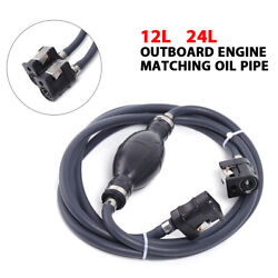 Marine Outboard Motor Fuel / Gas Hose Line Assembly Oil Tube Tank Connector New
