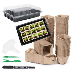 Greenhouse Seedling Trays Sprout Plate Plant Nursery Pots Seed Starter Tray