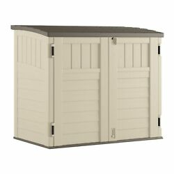 Suncast Horizontal Outdoor Storage Shed For Backyards And Patios 34 Cubic Fee...