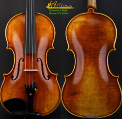 Pro Master Antique Old Guarnerius Style Violin 4/4 One Piece European Wood Power