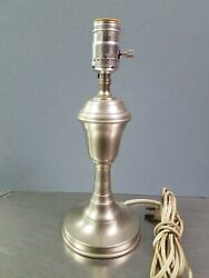 Vintage 11 Woodbury Pewterers Colonial Pewter Table Lamp Connecticut
