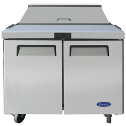 New 2 Door 36 Refrigerated Sandwich Prep Table Cooler Nsf Atosa Msf3610gr 5495