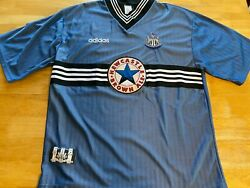 Adidas Xxl Blue Newcastle United Brown Ale Jersey Magpies A25