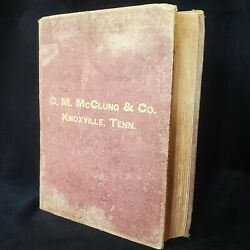1891 Cm Mcclung And Co Hardware Catalog Knoxville Tennessee Tn W/ Bonus Invoices